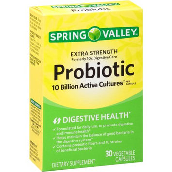 Wal-mart Store, Inc. Spring Valley 10X Digestive Care Probiotic Dietary Supplement Capsules, 30 count