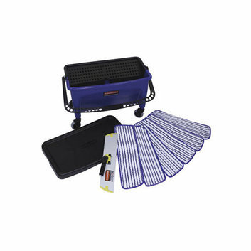 Rubbermaid Commercial Products Microfiber Floor Finishing System in Blue / Black / White