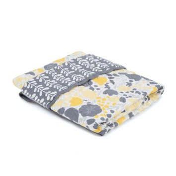 Balboa Baby Cotton Sateen Coverlet - Lavender Poppy & Trellis