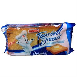 Bimbo Pan Tostado - Pan Blanco - Toasted Bread - 14 Slices 7.05 Oz (Pack of 3)