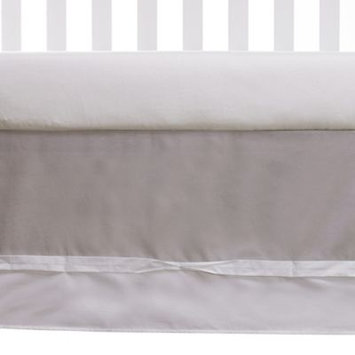 Living Textiles Baby Grey Bedskirt