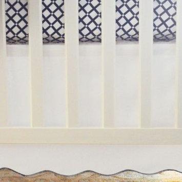 Oliver B 2-Piece Crib Bedding Set - Scallop Navy Checks