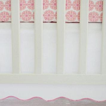 Oliver B Scallop Pink 2-Piece Crib Bedding Set