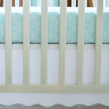Oliver B Sea Green 2-Piece Crib Bedding Set
