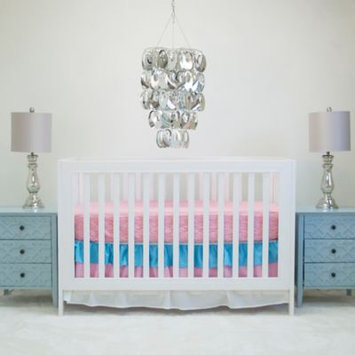 Pam Grace Creations Aqua Basics 2-piece Crib Bedding Set