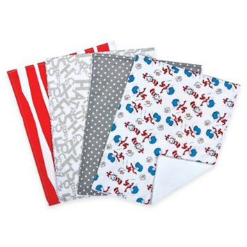 Trend Lab Dr. Seuss Cat and Things Bouquet 4 Pack Burp Cloth Set