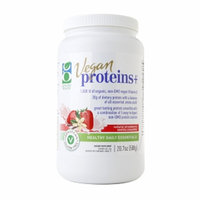 Genuine Health Vegan Proteins+, Natural Strawberry Vanilla, 20.7 oz