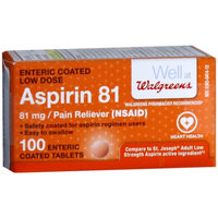 Walgreens Aspirin 81 mg Adult Pain Reliever Tablets
