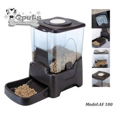 Qpets Petself Electronic Feeder (up to 45 Cups) with LCD display