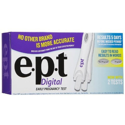 e.p.t. EPT Digital Early Pregnancy Test - Box of 2 Tests