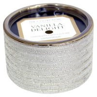 Pacific Trade THE Collection Vanilla Container Candle GLD SIL