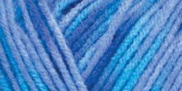 Hrl Red Heart Comfort Yarn-Turquoise/Blue Prints