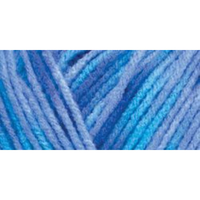Hrl Red Heart Comfort Yarn-Turquoise/Blue Prints