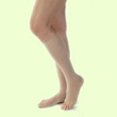 Jobst Opaque Knee High 20-30mmHg Closed Toe, S, Honey