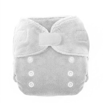 Thirsties Duo Fab Fitted Cloth Diapers, White, Size Two (18-40 lbs) (Discontinued by Manufacturer)