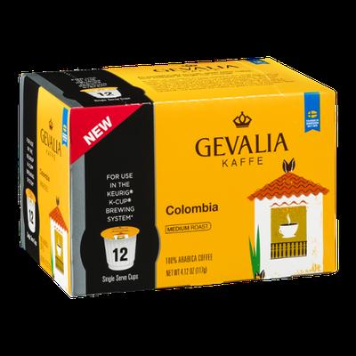 Gevalia Kaffe 100% Arabica Coffee Single Serve Cups Colombia - 12 CT