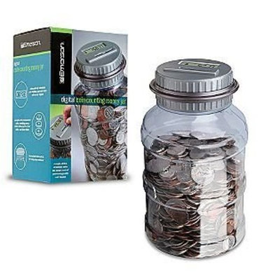 Emerson Digital Coin Counting Money Jar Automatic Piggy Bank