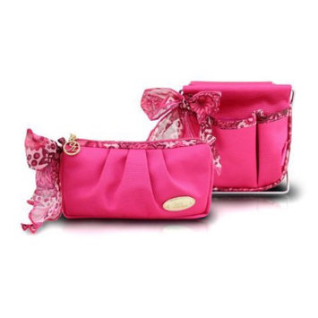 Jacki Design Summer Bliss 2 Piece Small Accessory Organizer and Holder Set Hot Pink - Jacki Design Ladies Cosmetic Bags