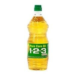 1-2-3 Textured 1 2 3 Pure Corn Vegetable Oil, 33.8 oz, - Pack of 12