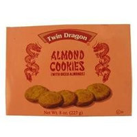 Dollaritem Wholesale Twin Dragon Almond Cookies 8Z*9M -Sold by 1 Case of 24 Pieces