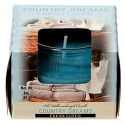 Wholesale Candle Tumbler 3Z In Paper Box Fresh Linen -Sold by 1 Case of 8 Pieces