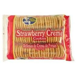 DDI Dutchmaid Strawberry Creme Sandwich Cookies Case of 12