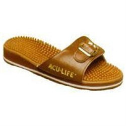 Aculife Massage Sandals, Brown with Buckle, M12/W13, 1 Pair, Acu-Life Massage Sandals