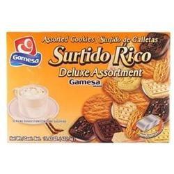 Gamesa Surtido Rico Assorted Cookies - 12 Boxes (15.42 oz ea)