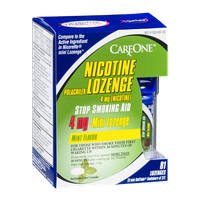 CareOne Nicotine Polacrilex Lozenge 4mg Mini Lozenge Mint - 81 CT