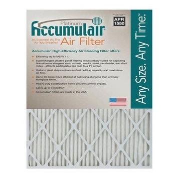 Accumulair Platinum 15x20x1 (14.75x19.75) MERV 11 Air Filter/Furnace Filters (2 pack)