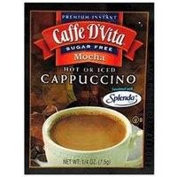 Caffe D'Vita Sugar Free Mocha Cappuccino, Envelopes, 0.25 oz, 24 pk