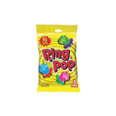 The Topps Company Inc Fruit Fest Ring Pop Peg 1.5 Oz(Case of 12)
