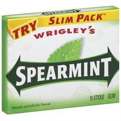 Wrigley's Spearmint Gum, Slim Pack ‑ 15 stick box