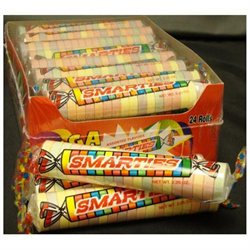 Smarties Mega Smarties Candy, 2.25 oz case of 24