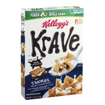 Kellogg's Krave S'Mores Cereal with Flavored Center