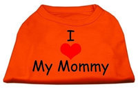 Mirage Pet Products 51-35 MDOR I Love My Mommy Screen Print Shirts Orange Med - 12