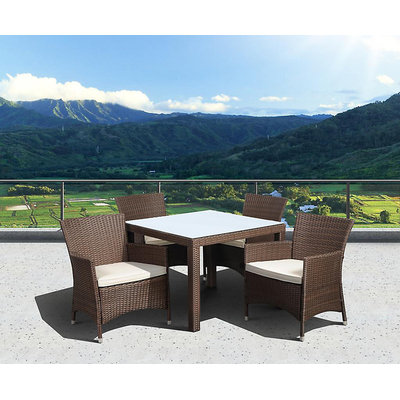 Allen + Roth allen + roth Woodwinds Wood Rectangle Patio Bar-Height Table
