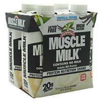 CytoSport Muscle Milk RTD Vanilla Creme - 12 - 11 fl oz (330 ml) shakes