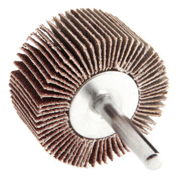 Forney 60184 Mounted Flap Wheel with 1/4 Inch Shank 2 Inch by 1 Inch 60 Grit