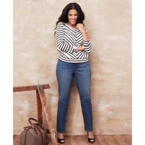 Style Co Plus Size Tummy-Control Slim-Leg Jeans, Only at Macy's