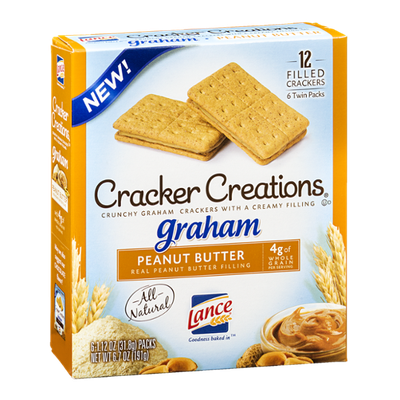 Lance Cracker Creations Graham Peanut Butter - 6 PK