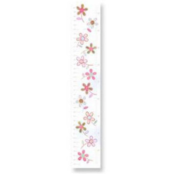 Stupell Industries GC-57 Pink Brown Floral Growth Chart