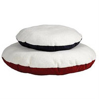 Midwest Pets Quiet Time Round Polyfill Pillow Pet Bed 34in Navy