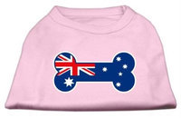 Mirage Pet Products 5109 XXXLLPK Bone Shaped Australian Flag Screen Print Shirts Light Pink XXXL 20