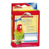 L & M Animal Farms LM Animal Farms LM02914 Absorbent Cage Liner Bird