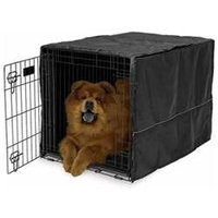Mid-west Midwest Quiet Time Black Dog Crate Cover 36 inch