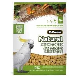 ZuPreem Natural Diet Bird Food Large Parrot 3lb