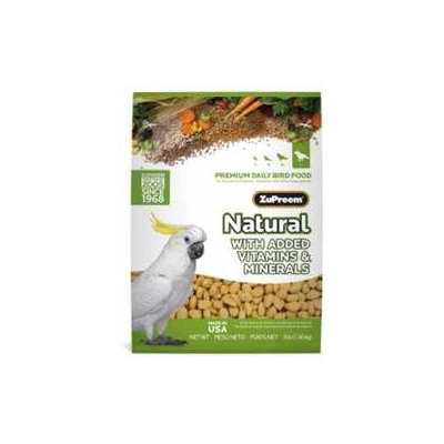 ZuPreem Natural Diet Bird Food Large Parrot 3lb
