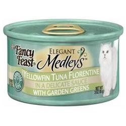 Fancy Feast Yellowfin Tuna Florentine In A Delicate Sauce With Garden Greens