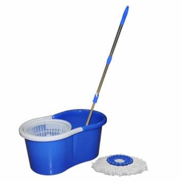 GGI International MicroFiber Mop & Bucket 360 Spin, Blue, 1 ea